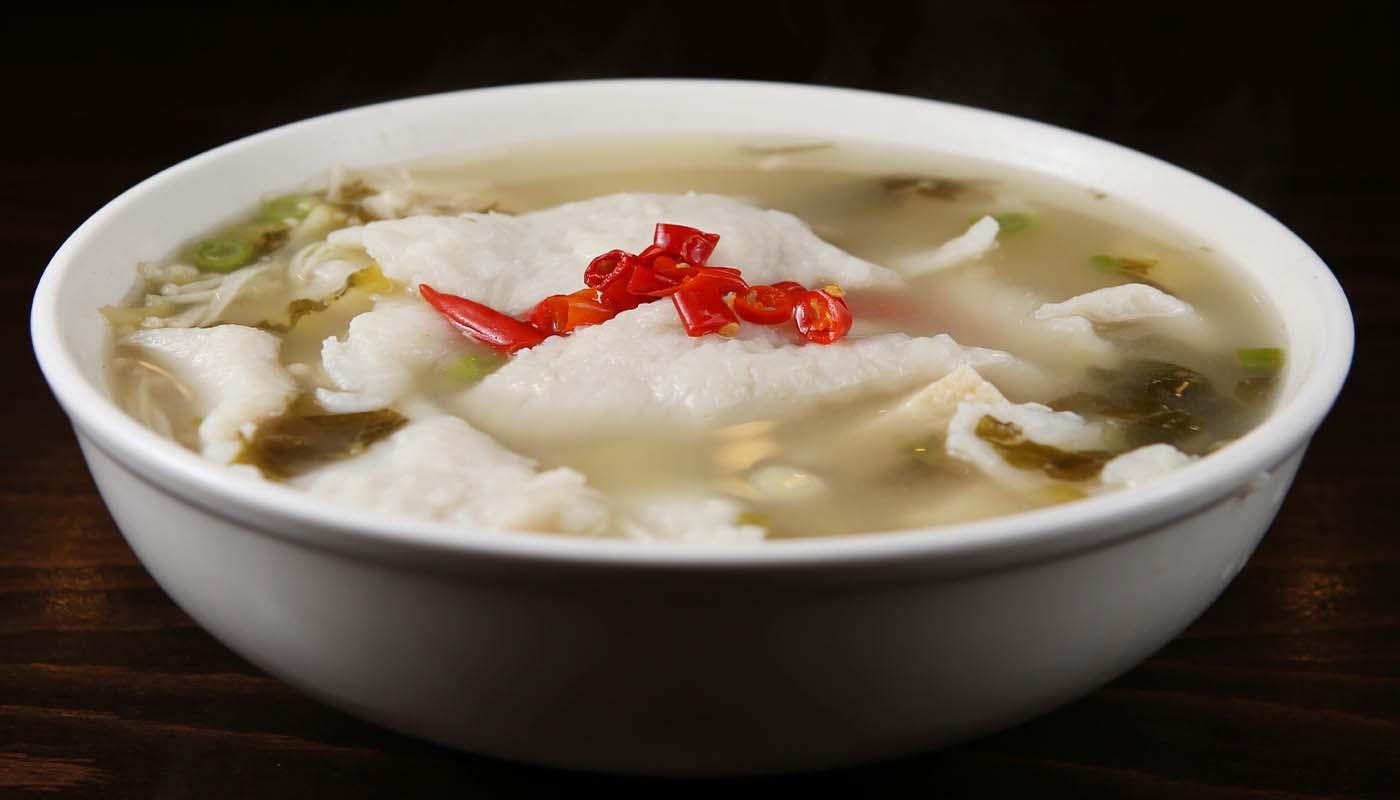 f09 chengdu fish filet w.  pickled green 农家鱼片 [spicy]