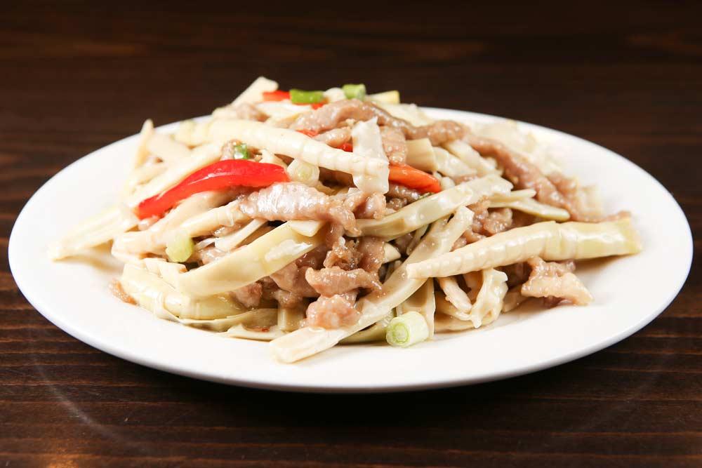 p10 pork w. fresh bamboo shoots 笋尖肉丝