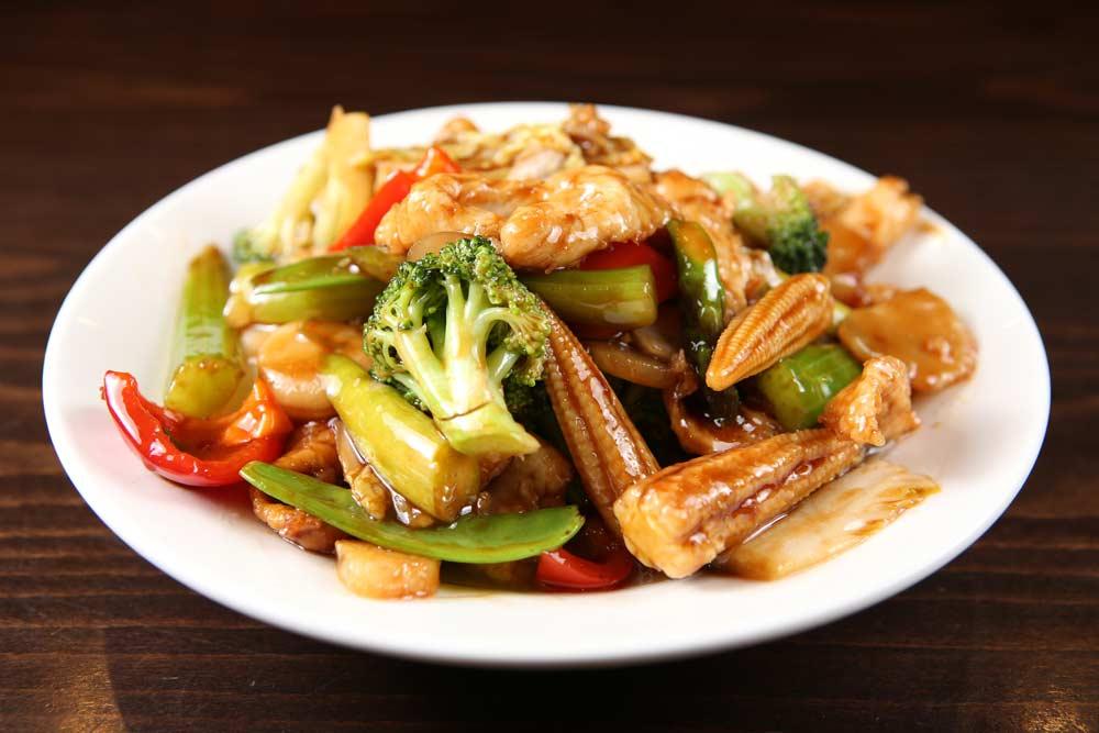 j22 chicken mixed veg 素菜鸡