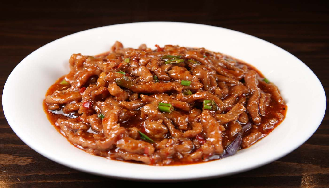 p03 pork & eggplant w yu xiang sauce 肉丝茄子 [spicy]
