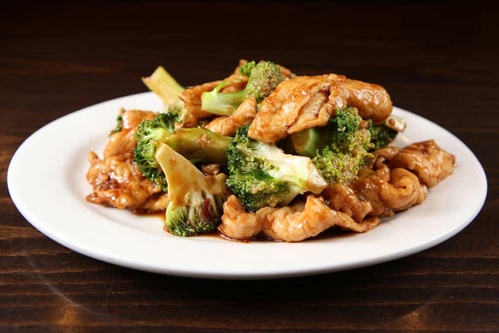 j13 chicken w. broccoli w.brown sauce 芥兰鸡