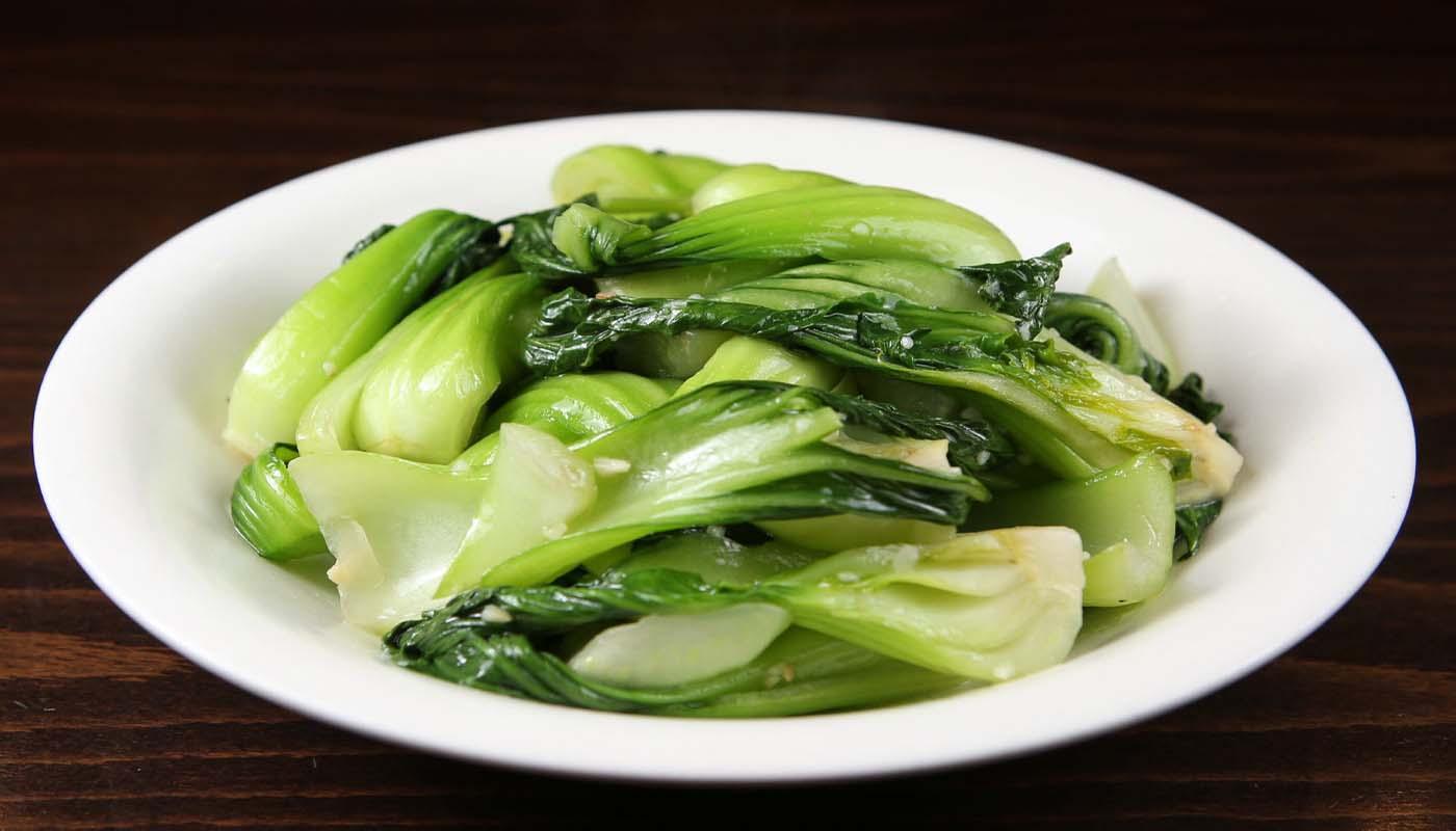 v09 baby bok choy w. fresh garlic 蒜蓉上海小白菜