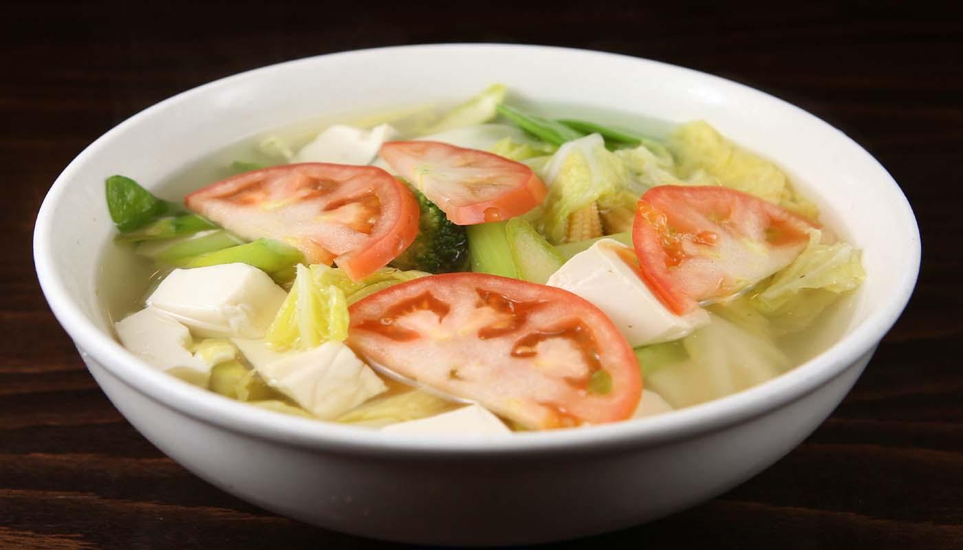 s08 vegetableetable&tofu soup 蔬菜豆腐汤