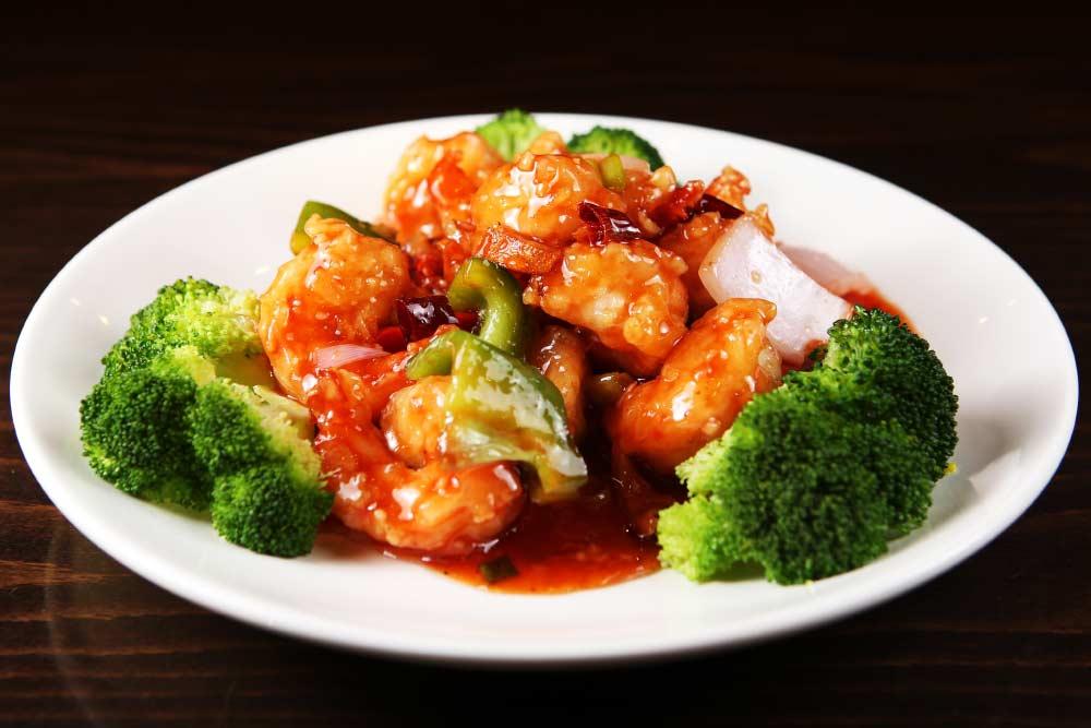 h02 tangerine jumbo shrimps 陈皮大虾 [spicy]