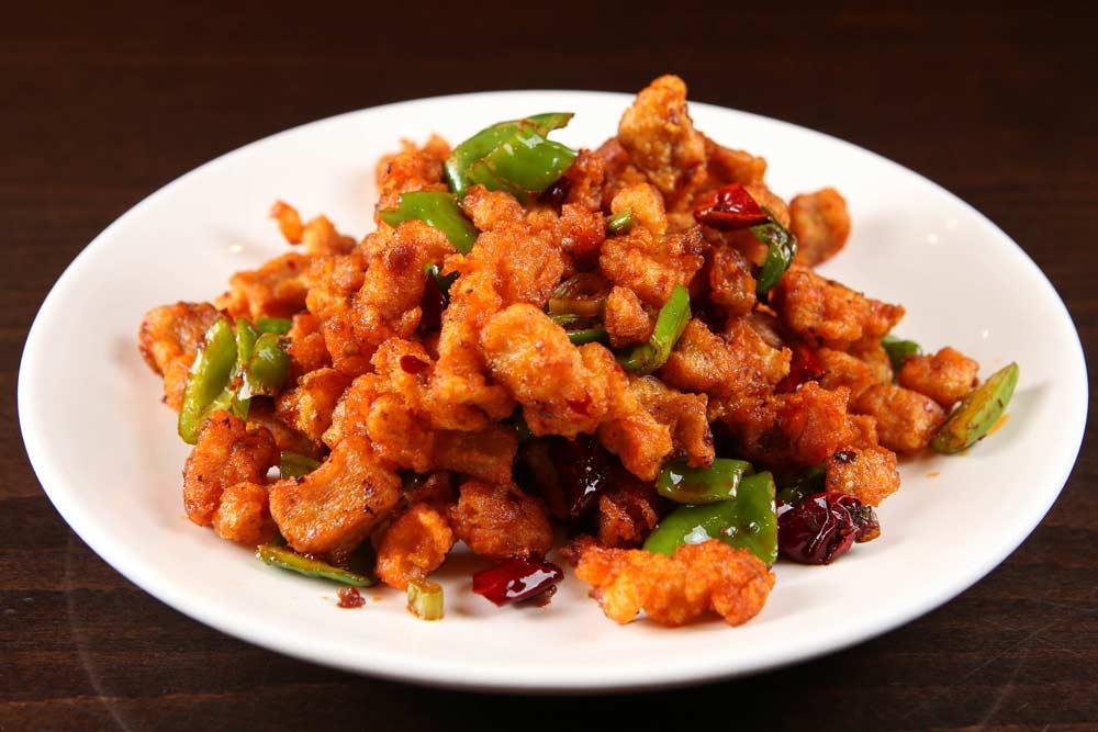 j01 dried chicken w. chili 香辣干煸鸡 [spicy][spicy]