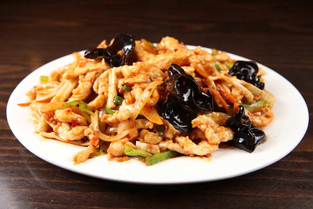 j12 chicken w. yu xiang sauce 鱼香鸡丝 [spicy]