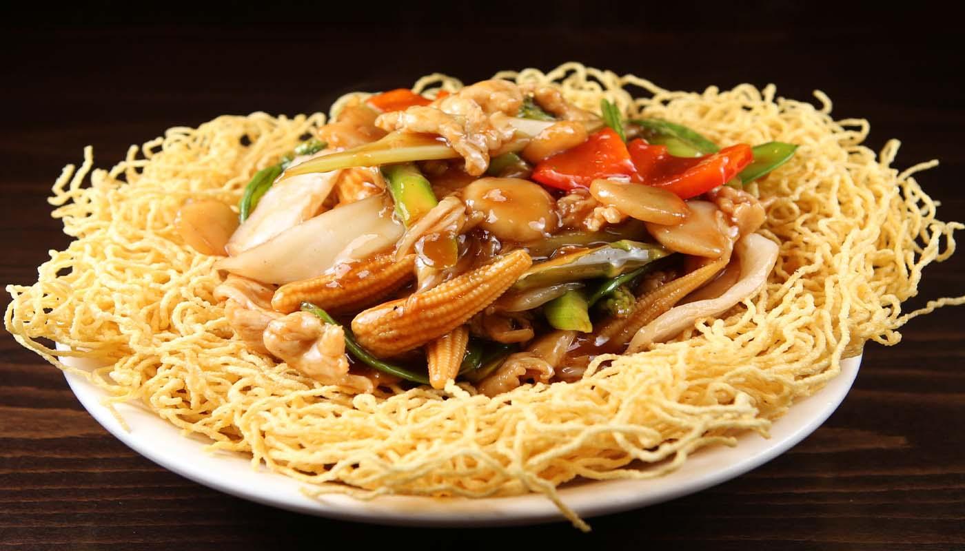 n071 chicken pan fried noodles 鸡两面黄