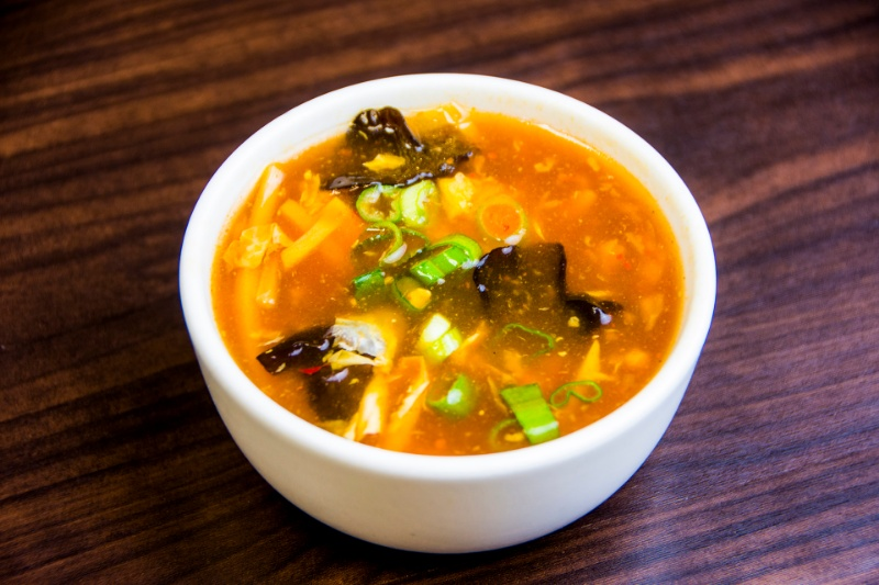 s02. hot & sour soup 酸辣汤 (s)[spicy]