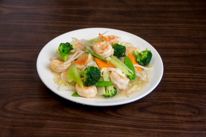 sf05. jumbo shrimp with vegetables 蔬菜大虾
