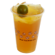 kumquat lemon fruit tea 金桔梅子鲜果茶 (large)